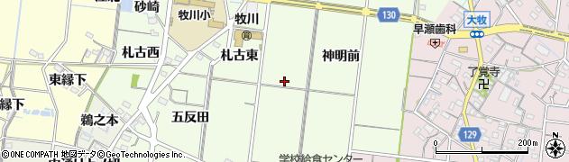愛知県稲沢市祖父江町両寺内周辺の地図