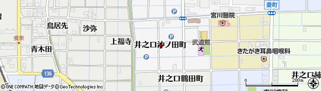 愛知県稲沢市井之口沖ノ田町周辺の地図