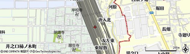 愛知県稲沢市井之口町(川北東)周辺の地図