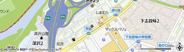 愛知県名古屋市守山区下志段味(北荒田)周辺の地図