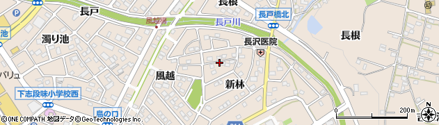 愛知県名古屋市守山区下志段味(新林)周辺の地図