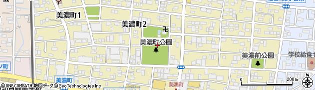 愛知県春日井市美濃町周辺の地図