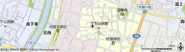 愛知県稲沢市一色下方町周辺の地図
