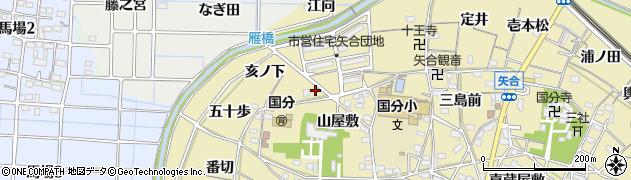 愛知県稲沢市矢合町(寺浦)周辺の地図
