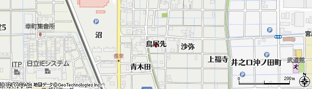 愛知県稲沢市長束町(鳥居先)周辺の地図
