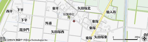 愛知県稲沢市祖父江町神明津(秋葉筋)周辺の地図