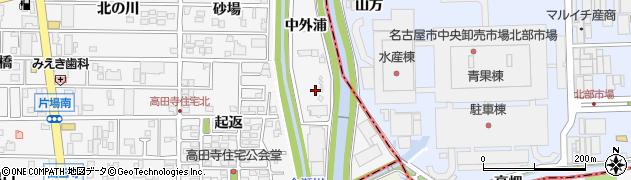愛知県北名古屋市高田寺(中外浦)周辺の地図