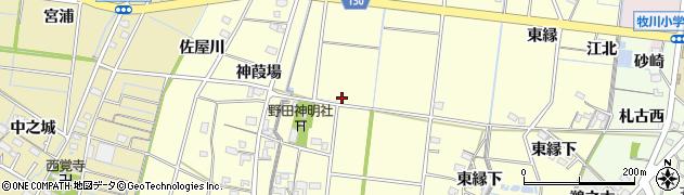 愛知県稲沢市祖父江町野田周辺の地図