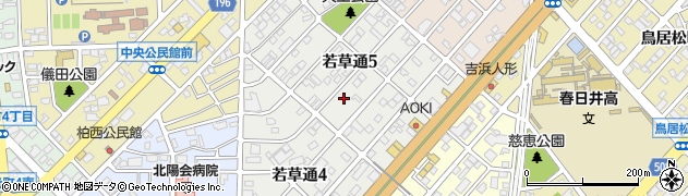 愛知県春日井市若草通周辺の地図