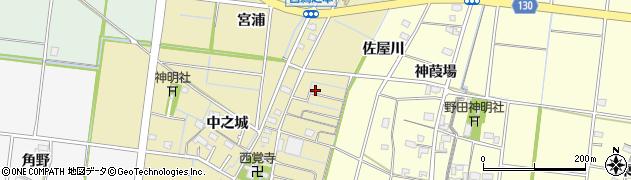 愛知県稲沢市祖父江町西鵜之本(佐屋川)周辺の地図