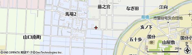 愛知県稲沢市馬場町(猫山)周辺の地図