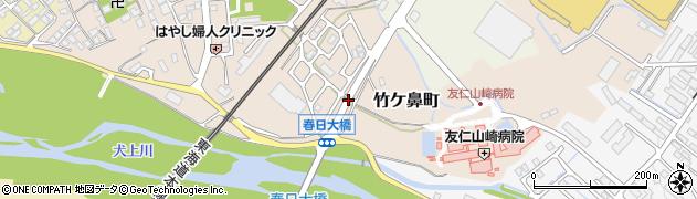 滋賀県彦根市竹ケ鼻町周辺の地図