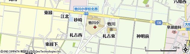 愛知県稲沢市祖父江町両寺内(砂崎)周辺の地図