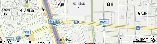 愛知県北名古屋市中之郷(薮の内)周辺の地図