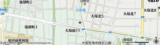 愛知県稲沢市大塚町(高畑)周辺の地図