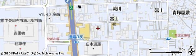 やっちゃば本部周辺の地図