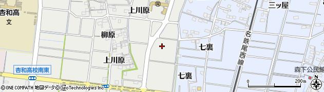 愛知県稲沢市祖父江町二俣(東川原)周辺の地図