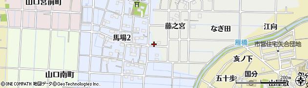 愛知県稲沢市馬場町周辺の地図