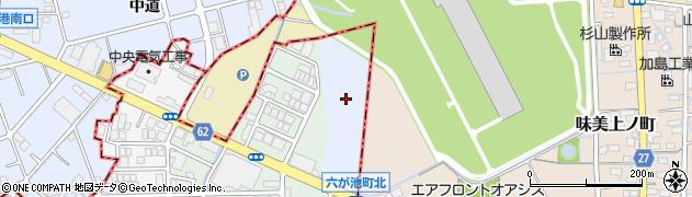 愛知県名古屋市北区楠町(如意字御花街道)周辺の地図
