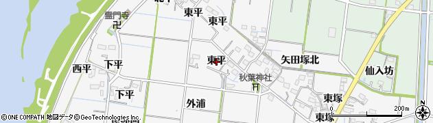 愛知県稲沢市祖父江町神明津(東平)周辺の地図