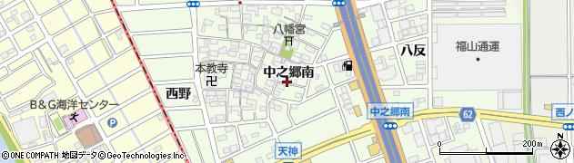 愛知県北名古屋市中之郷(南)周辺の地図