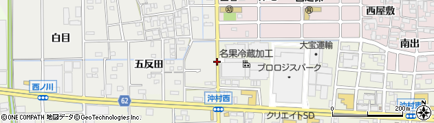 愛知県北名古屋市石橋(山田屋敷)周辺の地図
