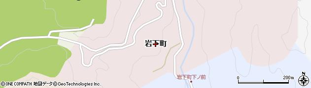 愛知県豊田市岩下町周辺の地図