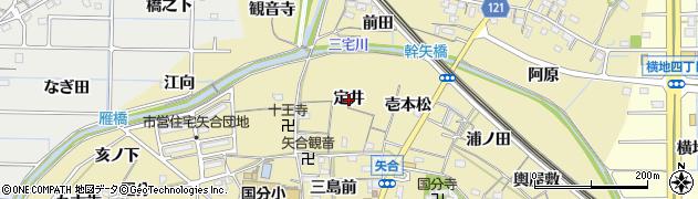 愛知県稲沢市矢合町(定井)周辺の地図