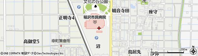愛知県稲沢市長束町(沼)周辺の地図