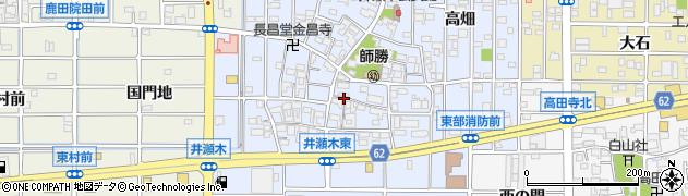 愛知県北名古屋市井瀬木(居屋敷)周辺の地図