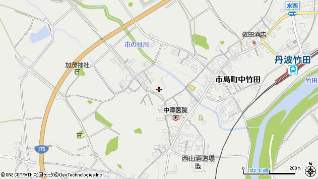 〒669-4302 兵庫県丹波市市島町中竹田の地図