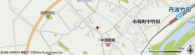 兵庫県丹波市市島町中竹田周辺の地図