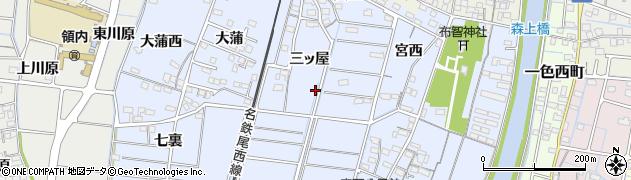 愛知県稲沢市祖父江町本甲(三ッ屋)周辺の地図