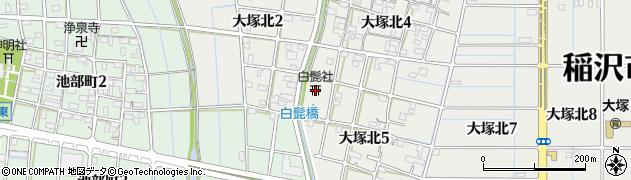 白髭社周辺の地図