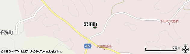 愛知県豊田市沢田町(権座)周辺の地図