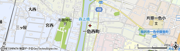 愛知県稲沢市一色西町周辺の地図