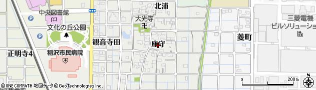 愛知県稲沢市長束町(座守)周辺の地図
