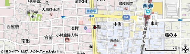愛知県北名古屋市西之保(東海)周辺の地図