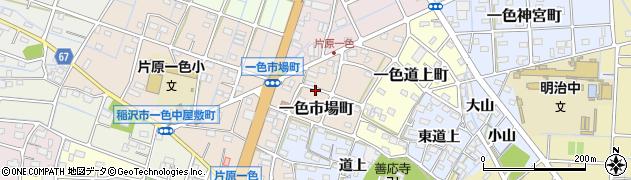 愛知県稲沢市一色市場町周辺の地図