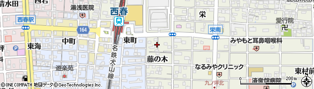 愛知県北名古屋市鹿田(西藤之木)周辺の地図
