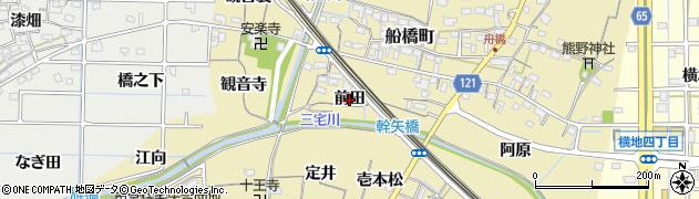 愛知県稲沢市船橋町(前田)周辺の地図