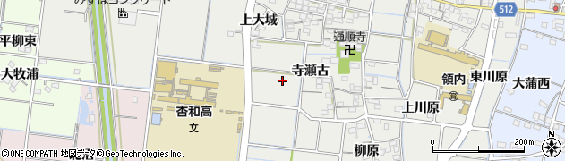 愛知県稲沢市祖父江町二俣周辺の地図