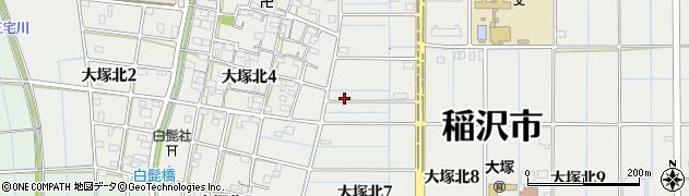 愛知県稲沢市大塚北周辺の地図