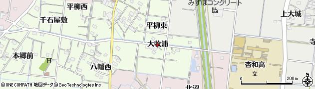 愛知県稲沢市祖父江町両寺内(大牧浦)周辺の地図