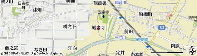 愛知県稲沢市船橋町(観音寺)周辺の地図