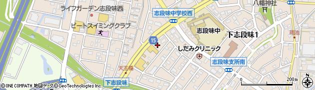 愛知県名古屋市守山区下志段味(釼当先)周辺の地図