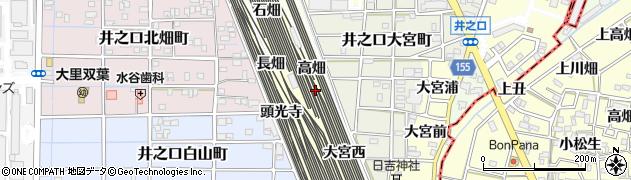愛知県稲沢市井之口町(高畑)周辺の地図