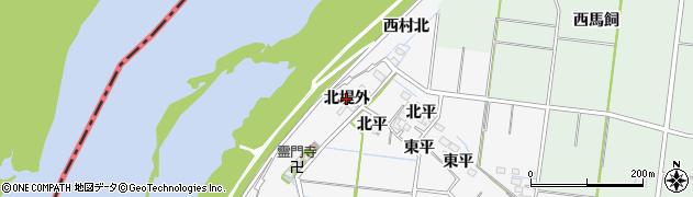 愛知県稲沢市祖父江町神明津(北堤外)周辺の地図