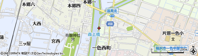 愛知県稲沢市片原一色町(橋上)周辺の地図