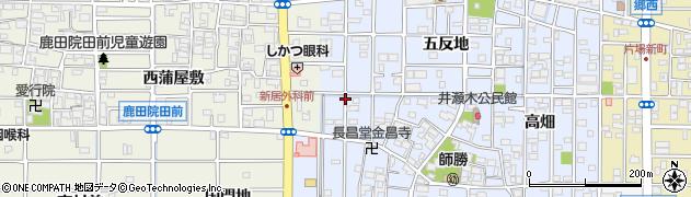 愛知県北名古屋市井瀬木(鴨)周辺の地図